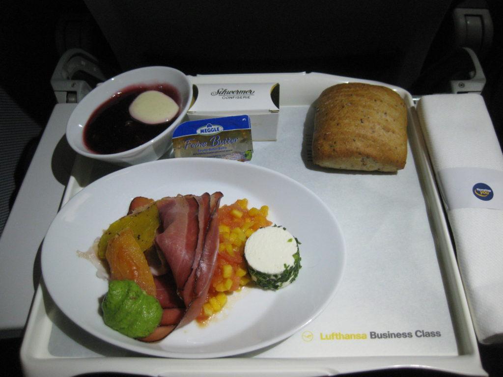 kleiner Snack / LH Business-Class