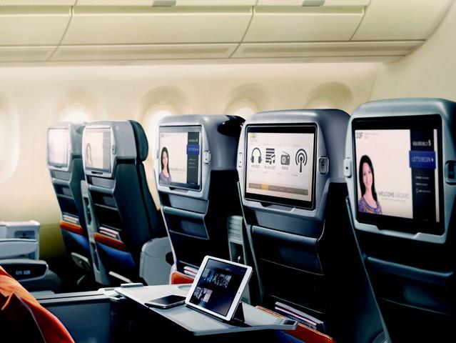 SQ Premium Economy-Class-Kabine (Airbus A380-800)