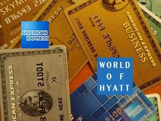 Logo American Express und Hyatt