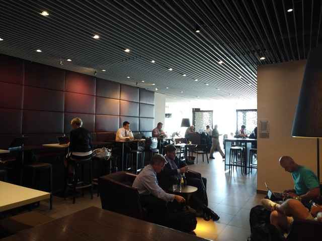 Hugo-Junkers-Lounge in Düsseldorf für OneWorld Elites und Business Class Passagiere British Airways Düsseldorf – London Heathrow im Juni 2018