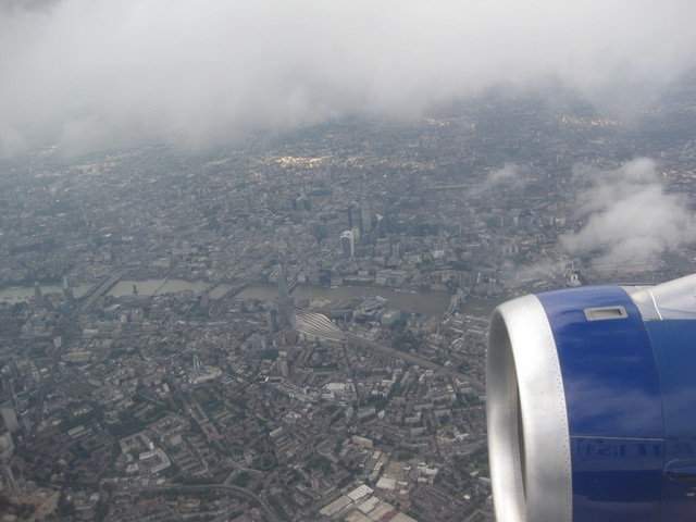 Landeanflug auf LHR / BA943 DUS-LHR