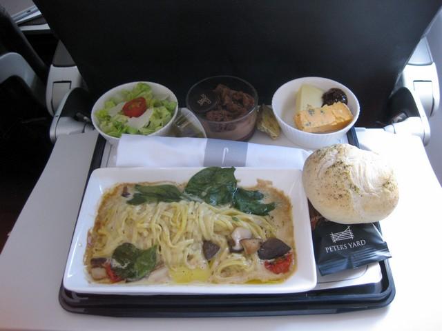 Mittagessen Business Class / BA 794 LHR-HEL
