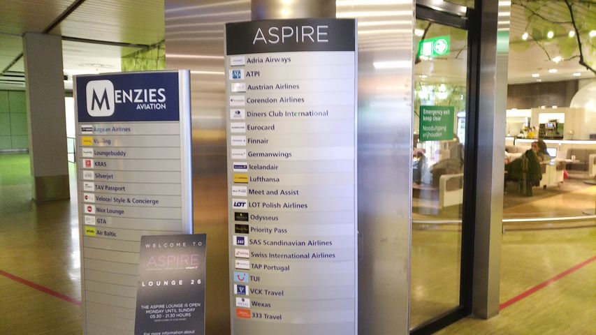 Aspire Lounge No 26 Amsterdam
