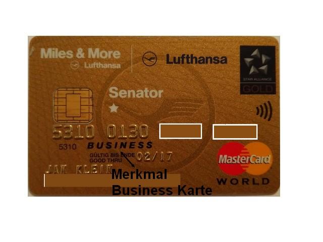 Merkmal Miles and More Kreditkarte Business
