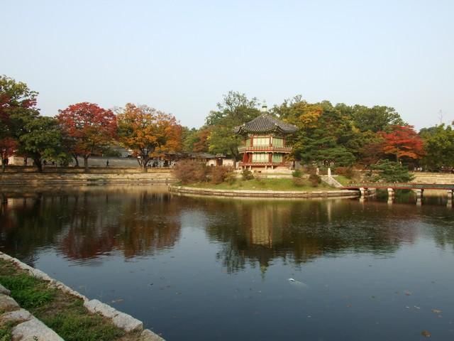Seoul - Pavillion im Gyeongbokgung Palast