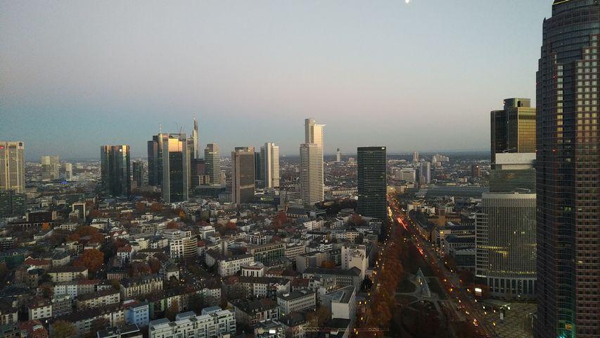 Skyline View Zimmer im Marriott Frankfurt