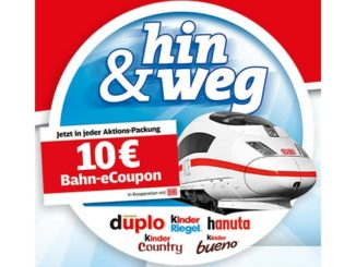 Ferrero 10 EUR Bahn Gutschein (Januar 2019)