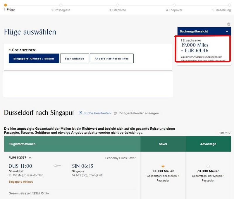 Düsseldorf - Singapore als Spontaneous Escapes im Februar 2019