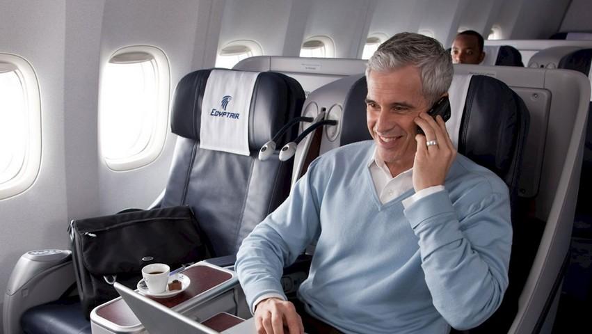Egyptair Business-Class auf der Langstrecke