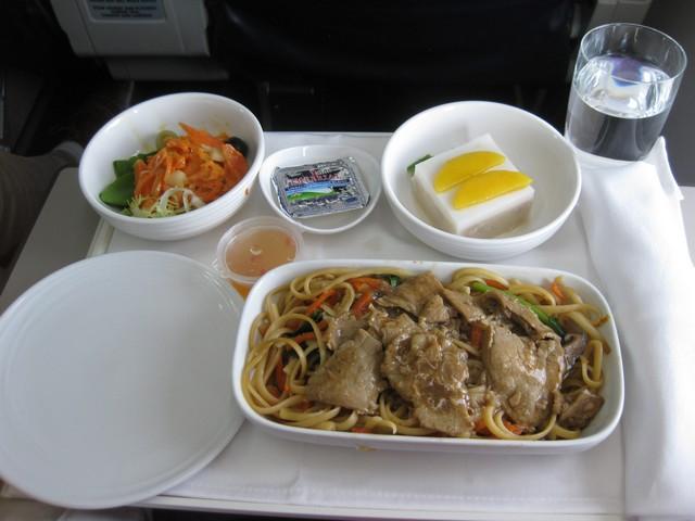 Mittagessen Business-Class / MH785 BKK-KUL