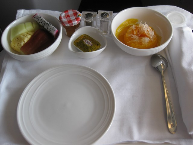 Essensservice Business-Class / MH388 KUL-PVG