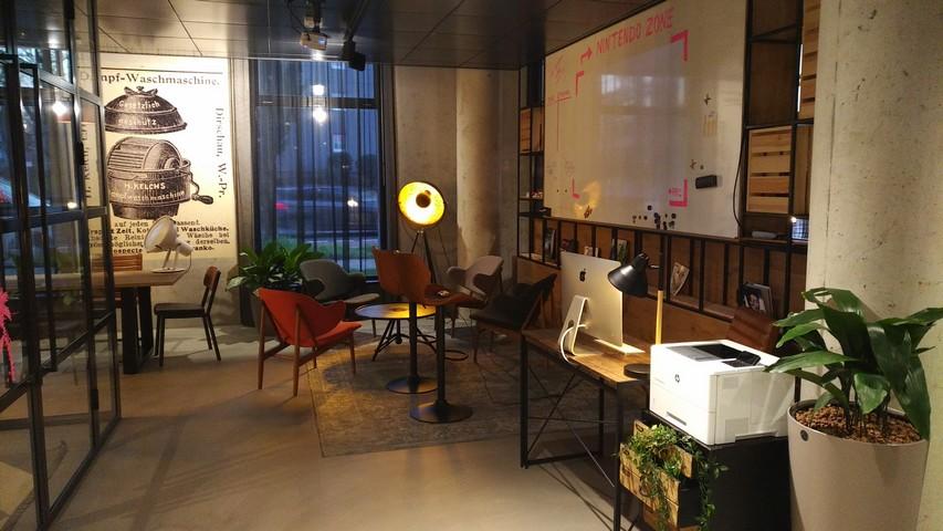 Lobby im Moxy Düsseldorf South