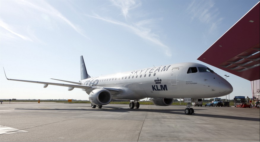 KLM Embraer in SkyTeam Lackierung