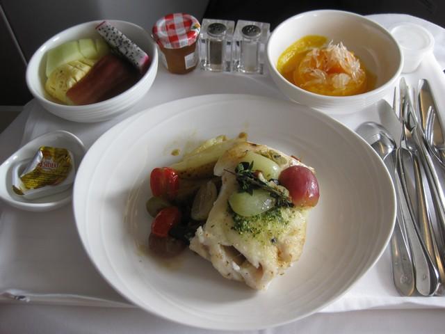 Mittagessen Business-Class / MH388 KUL-PVG
