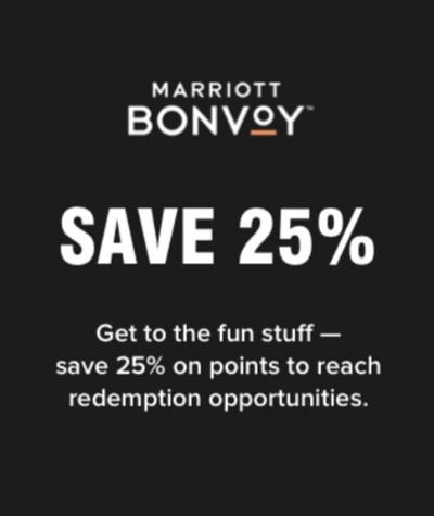 Kauf von Marriott Bonvoy Punkte bis 15.05.2019 mit 25% Ermäßigung