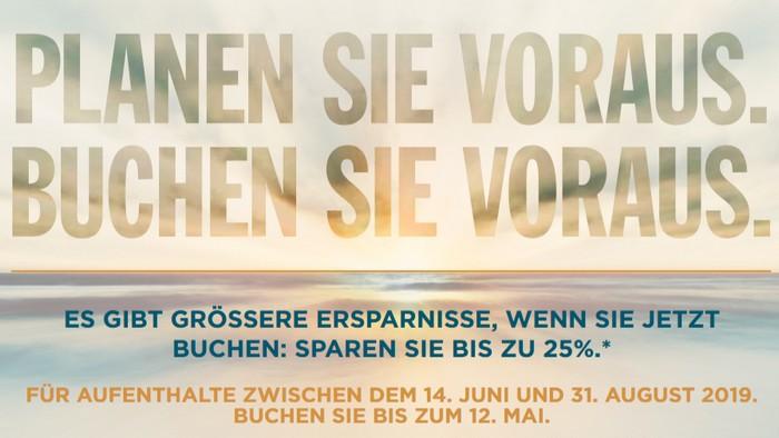 Radisson Frühbucher Sommerangebot 2019