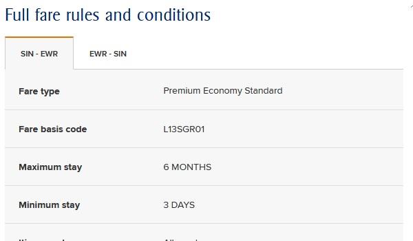 Änderungen bei Singapore Airlines im Mai 2019 bei den Buchungsklasse für Premium Economy