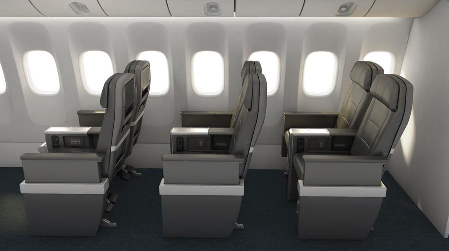 AA Premium-Economy-Class auf der Langstrecke