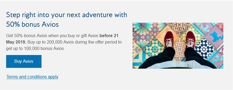 50% Bonus beim Kauf von Avios