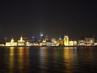 Shanghai Bund bei Nacht