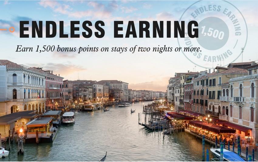 Bonvoy Endless Earning - 1500 Bonus Punkte im Bonvoy Programm bis 16.09.2019