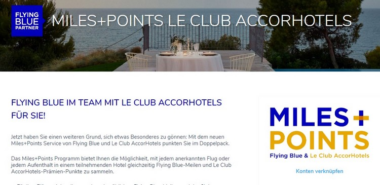 Registrierungsprozess für Miles + Points bei Flying Blue