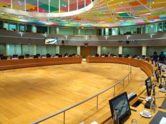 Konferenzraum im Europa Building in Brüssel