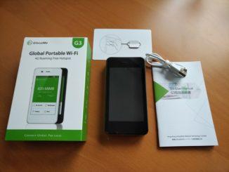 GlocalMe 3G mit Zubehör