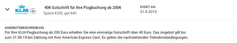Gutschrift von 40 EUR bei einer KLM Flugbuchung