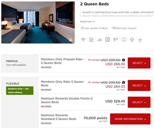 Zimmerraten im Radisson Blu Aqua Hotel Chicago