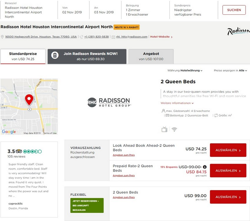 Radisson Look Ahead Book Ahead Raten im Radisson Hotel Houston Airport