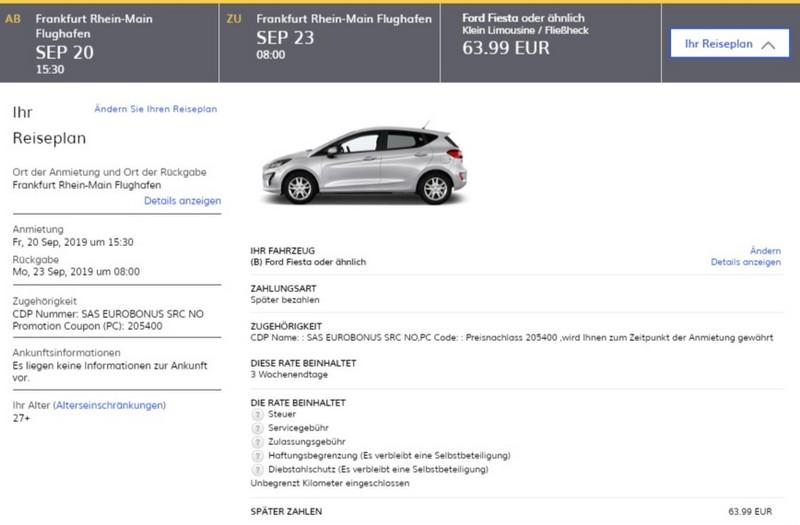 Preisbeispiele und Vergleiche mit Hertz EuroBonus Raten