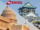 Swiss Flüge nach Washington und Osaka Logo