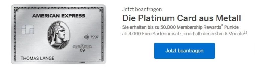 American Express Platinum Freundschaftsaktion mit 50.000 Membership Rewards Punkten