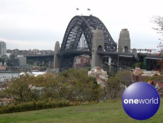 Australien mit oneworld - Sydney Harbour Bridge - Logo