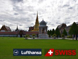 Lufthansa und Swiss nach Bangkok - Logo