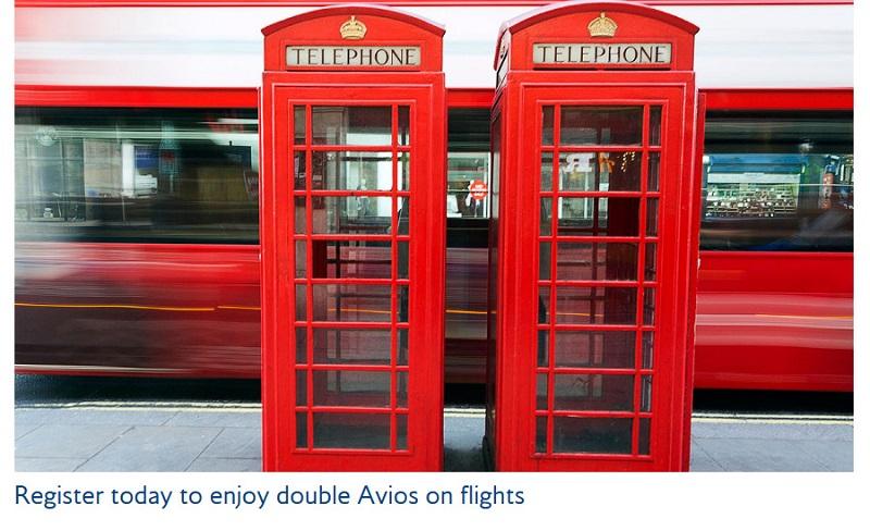 Double Avios Promotion