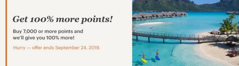 100% Bonus beim Kauf von IHG Rewards Club Punkten bis 24.09.2019
