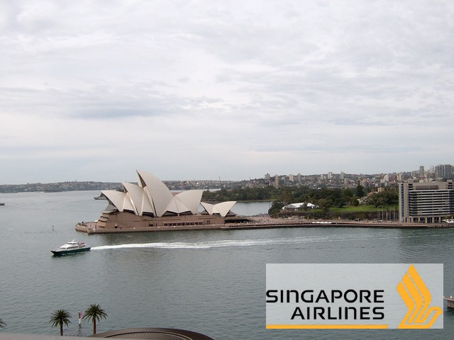 Syndey mit Singapore Airlines - Logo