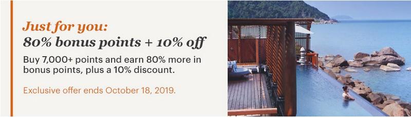 80% Bonus und 10% Discount beim IHG Punktekauf bis 18.10.2019