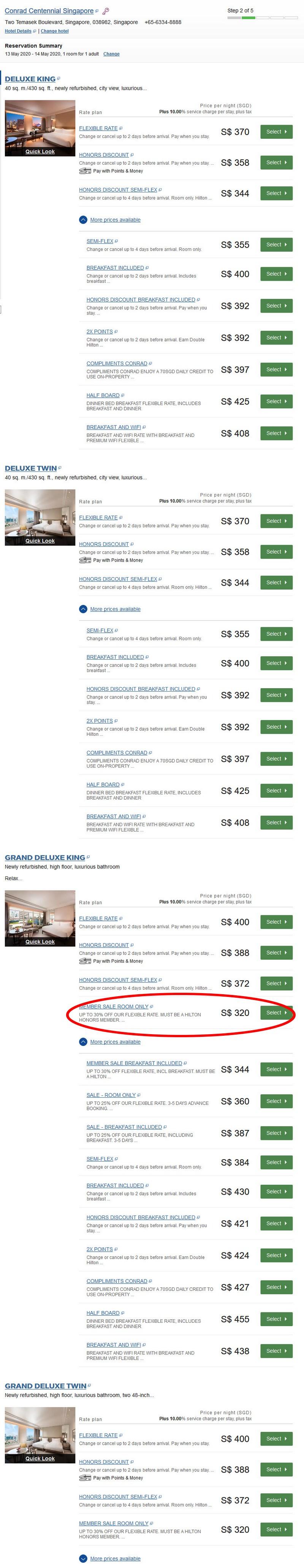 Hilton Süd-Ost-Asien Herbst Sale 2019 Raten im Conrad Singapore