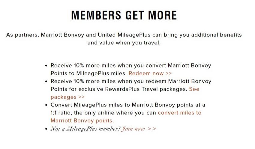 Partnerschaft zwischen Marriott Bonvoy und United Airlines Mileage Plus