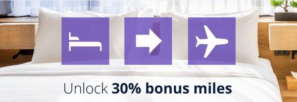 Promotion mit 30% Bonus beim Transfer von Hotelpunkten zu MileagePlus bis 30.11.2019