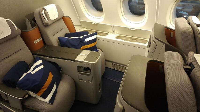 Business-Class Sitz / LH778 FRA-SIN