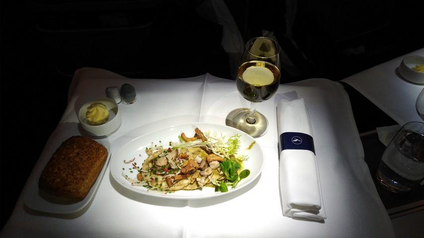 Abendessen (Vorspeise) Business-Class / LH778 FRA-SIN