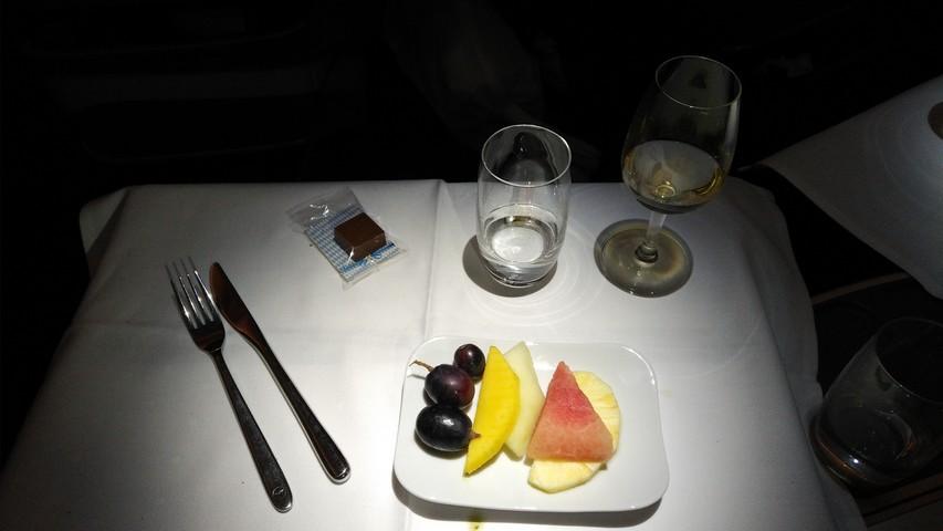 Abendessen (Dessert) Business-Class / LH778 FRA-SIN