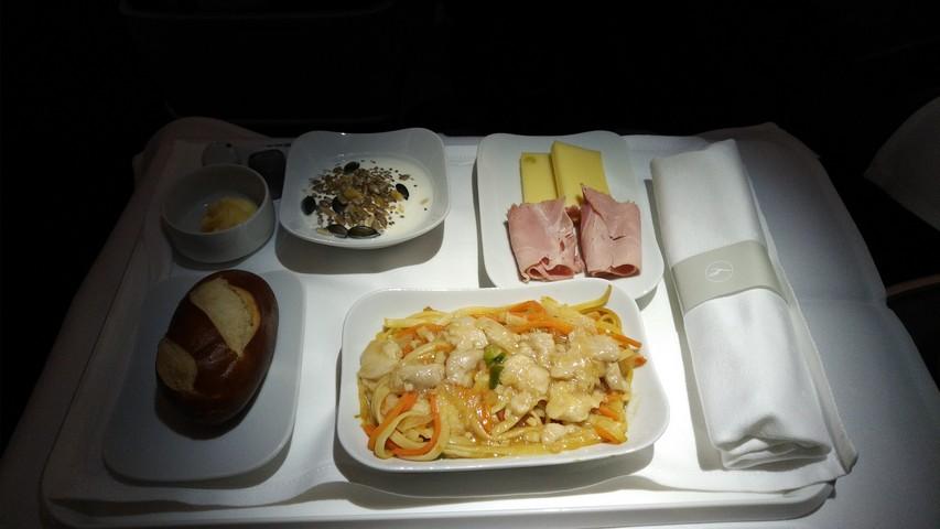 Frühstück Business-Class / LH778 FRA-SIN