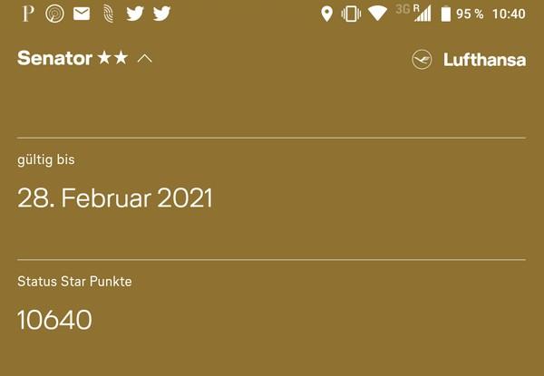 Status Star Anzeige in der App