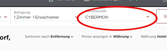 Radisson Cyber Sale 2019 Buchungscode