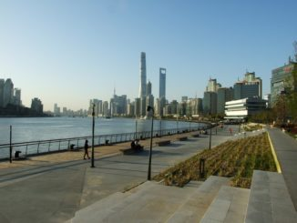 Shanghai Skyline und Huangpu River